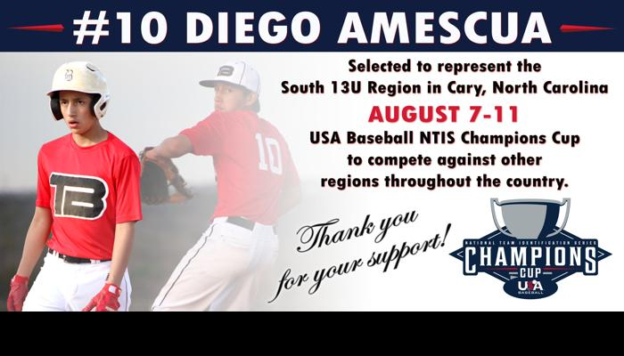 Image for 'JD10 Amescua USA BASEBALL' campaign on Freefunder