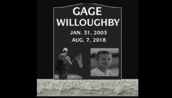 "Free Fundraiser Photo for ""Tombstone for GAGE WILLOUGHBY"""